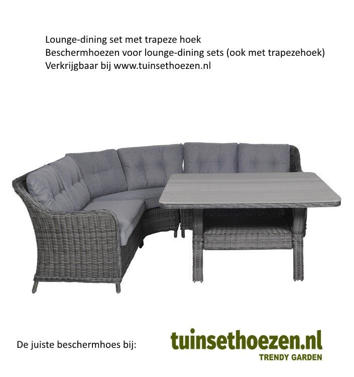 lounge-dining set met trapeze hoek