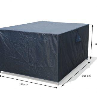 tuinsethoes 205x190xH85 met ventilatie-driehoeken