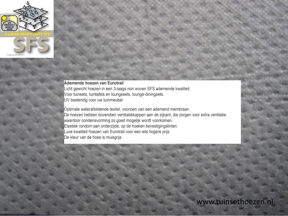 Eurotrail SFS® 3-laags ademende beschermhoes voor tuinmeubelen