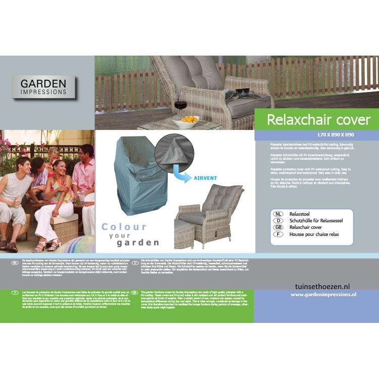 hoes voor stoel met hogere rugleuning (90cm)