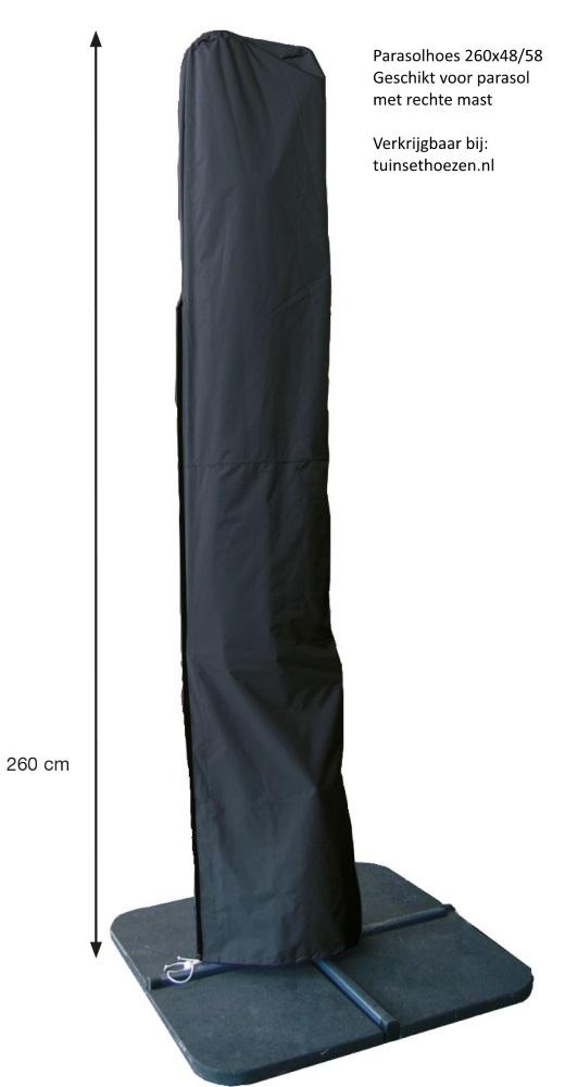 hoes voor zweefparasol met rechte mast