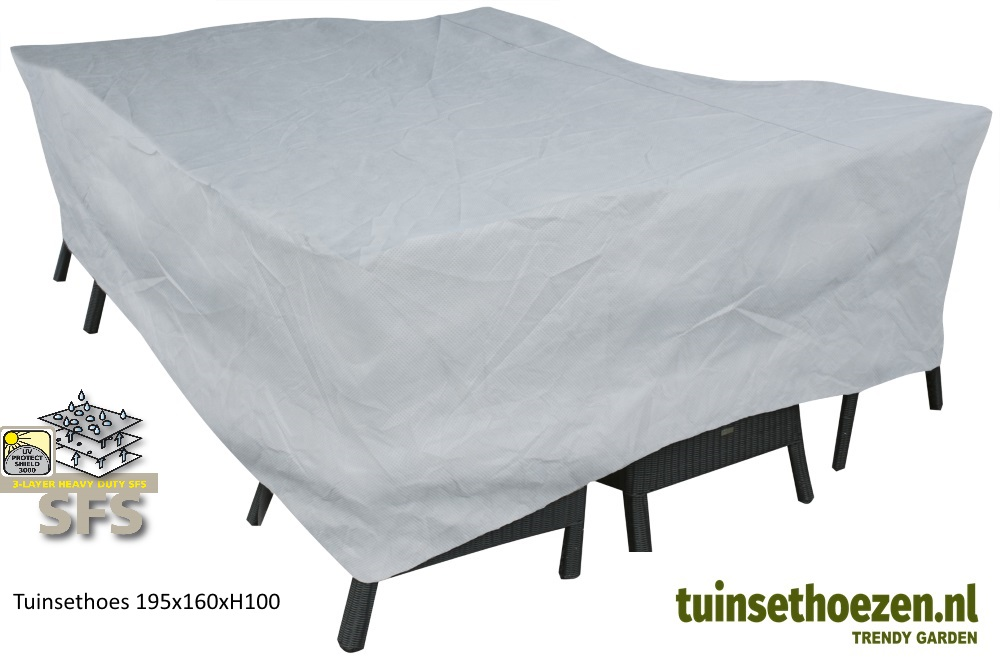 Tuinsethoes 195x160xH100emend